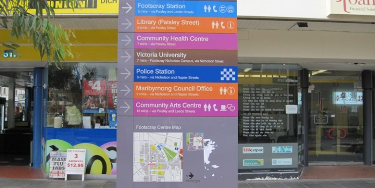 4 Footscray sign